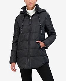 Junior's Hooded Puffer Coat