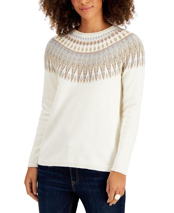 Style & Co Fair Isle Sweater, Created for Macy's