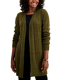 Plus Size Cable-Knit Duster Cardigan, Created for Macy's