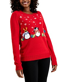 Embellished Penguin Sweater, Created for Macy's