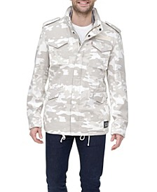 Men's Regular-Fit Camouflage Fleece-Lined Field Jacket