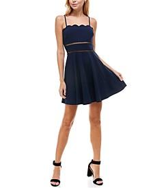 Juniors' Sleeveless Fit & Flare Dress