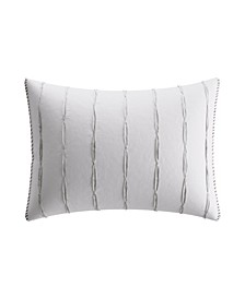 Charcoal Vines Gathered Pleats Breakfast Pillow