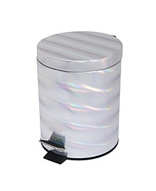 Holographic Round Step Pedal Trash Can