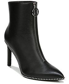 Bar III Women's Briget Front-Zip Booties, Created for Macy's