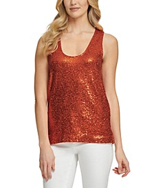 SEQUIN RACER BACK TA