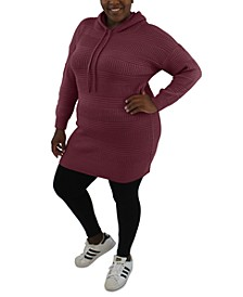 Trendy Plus Size Hooded Dress