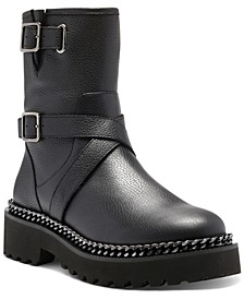 Women's Messtia Buckle Lug Sole Booties