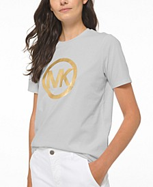 Cotton Circle-Logo T-Shirt, Regular and Petite Sizes