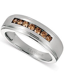 Chocolatier® Men's Diaomond Chocolate Diamond Band (3/8 ct. t.w.) in 14k White Gold