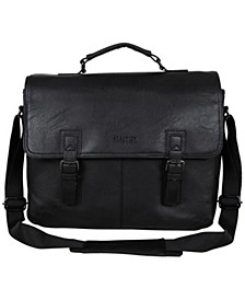 "Vegan Leather 15"" Laptop Messenger Bag"