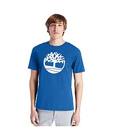 Mens Short Sleeve Kennebec River Tree Logo Tree