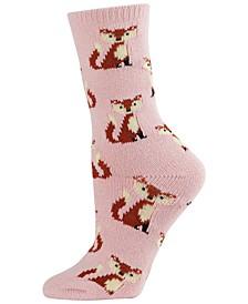 Women's Cozy Fox Novelty Boot Socks