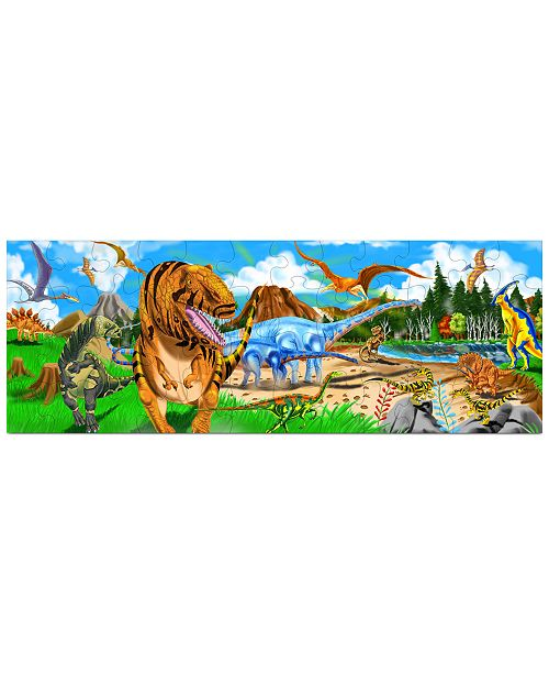 Melissa and Doug Kids Toy, Land of Dinosaurs 48-Piece Floor Puzzle - Dinosaur Toy