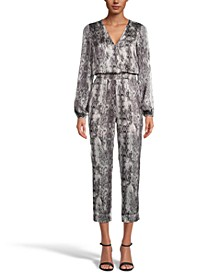 INC Snake-Print Jumpsuit, Created for Macy's