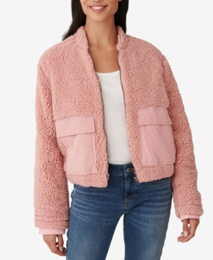 Lucky Brand Utility Teddy Jacket In Rose Tan
