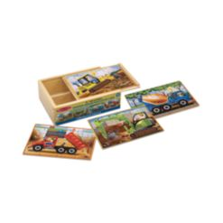 Melissa and Doug Kids Puzzle, Construction Vehicles Jigsaw Puzzles in a Box