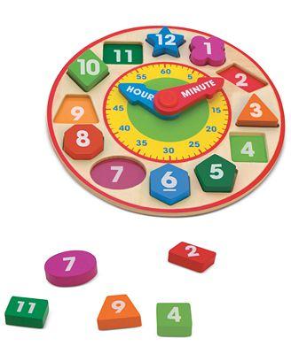 Melissa and Doug Kids Toy, Shape-Sorting Clock