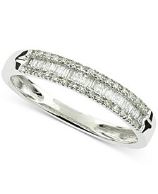 Diamond Baguette Band (1/5 ct. t.w.) in 10k White Gold