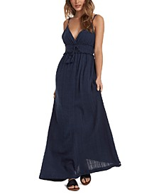 Juniors' Cotton Venture Free Maxi Dress