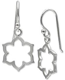 Moroccan Open Drop Earrings in Sterling Silver, Created for Macy's