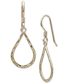 Textured Open Teardrop Drop Earrings in 18k Gold-Plated Sterling Silver, Created for Macys