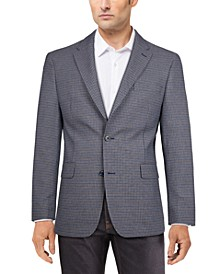 Men's Modern-Fit Blue/Brown Check Sport Coat