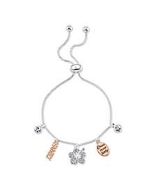 """Lilo and Stitch """"Family"""" Bolo Bracelet in Fine Silver Plate"""