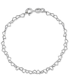Heart Link Chain Bracelet in Sterling Silver, Created for Macy's