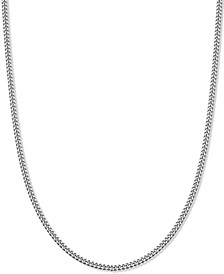 "Curb Link 18"" Chain Necklace in Sterling Silver, Created for Macy's"