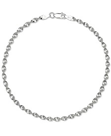 Twisted Butterfly Link Ankle Bracelet in Sterling Silver, Created for Macy's