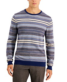 Men's Striped Jacquard Sweater, Created for Macy's