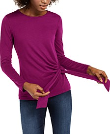 INC Side-Tie Top, Created for Macy's
