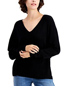 V-Neck Drop-Shoulder Sweater