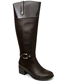 Karen Scott Vickyy Wide Calf Riding Boots, Created for Macy's