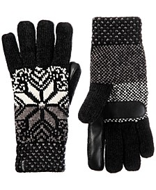Women's Lined Chenille Fair Isle Touchscreen Glove