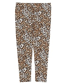 Toddler Girls All Over Leopard Print Mix and Match Knit Legging
