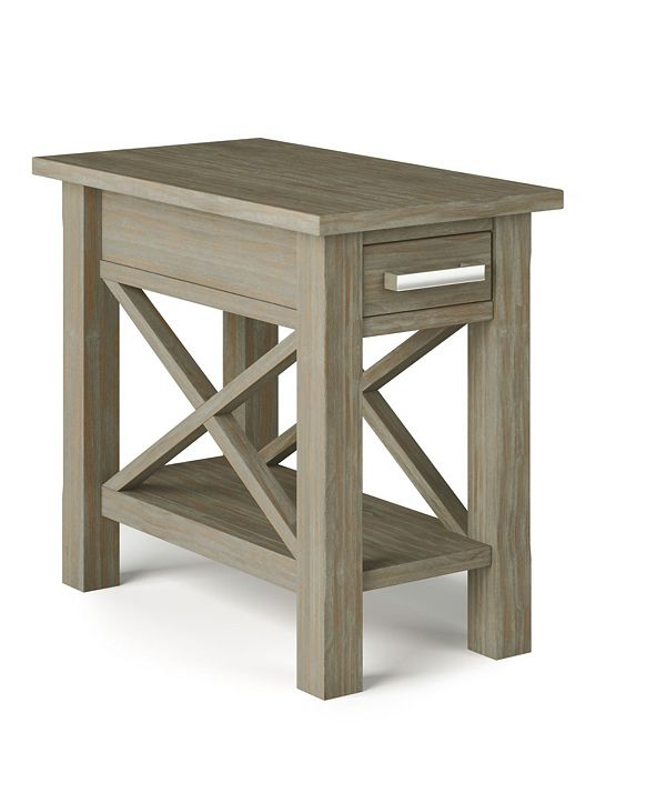Simpli Home Kitchener Solid Wood Narrow Side Table