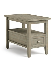 Warm Shaker Solid Wood Narrow Side Table