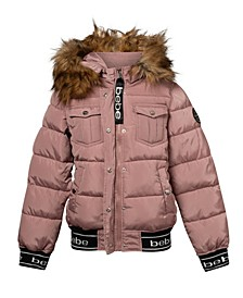 Women's Rib Logo Bottom Puffer Jacket (37% Off) -- Comparable Value $79