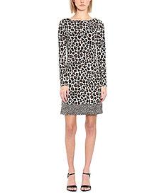 Michael Michael Kors Plus Size Leopard-Print Shift Dress
