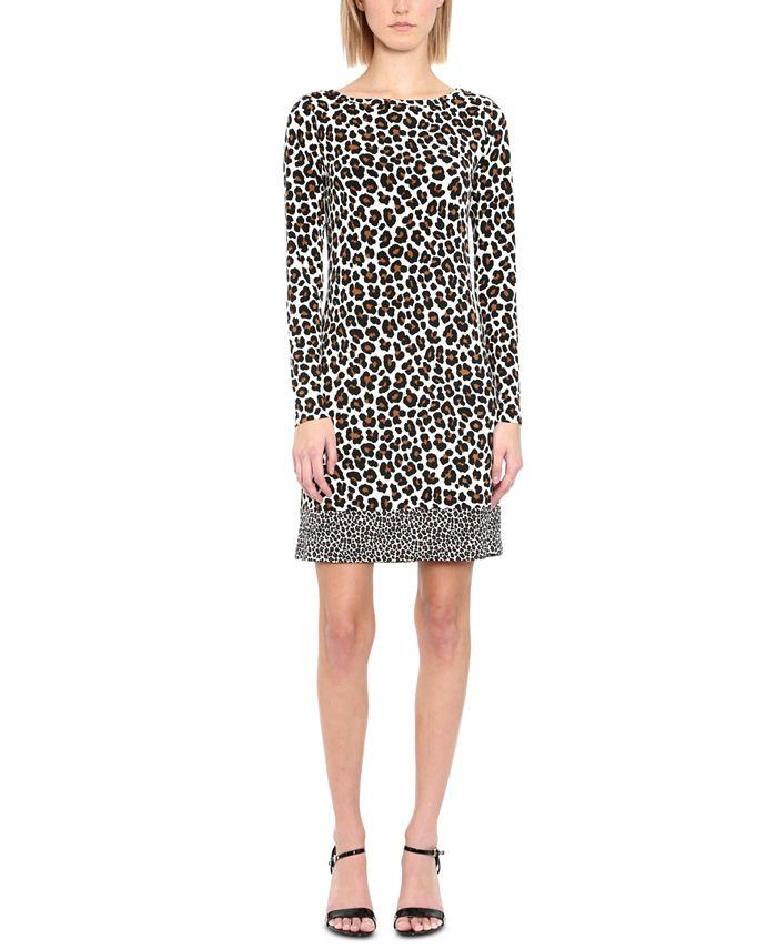 Michael Kors - Plus Size Leopard-Print Shift Dress