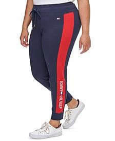 Plus Size High-Rise Logo Leggings