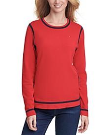 Crewneck Tipped Sweater