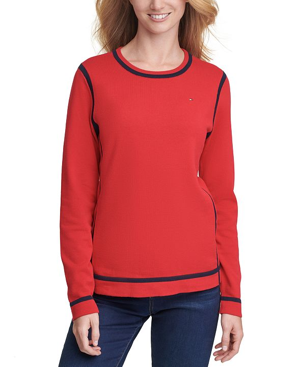 Tommy Hilfiger Crewneck Tipped Sweater