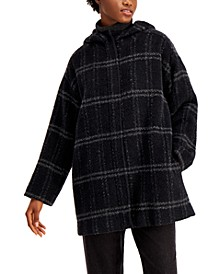 Hooded Plaid Coat
