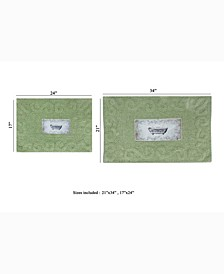Naples Bath Rug, 2 Piece Set