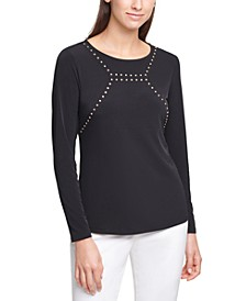 Long-Sleeve Embellished Top