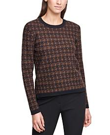 Crewneck Tweed Sweater