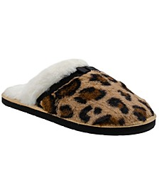Boxed Women's Faux Fur Leopard Slipper with Grosgrain Bow (58% Off) -- Comparable Value $24